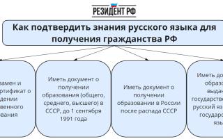Подготовка к экзамену на знание русского языка