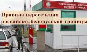 Правила пересечения границы между Россией и Беларусью в 2020 году