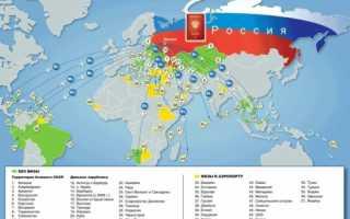 В каких странах не требуется виза?