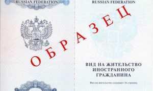 Образец бланка заявления на ВНЖ