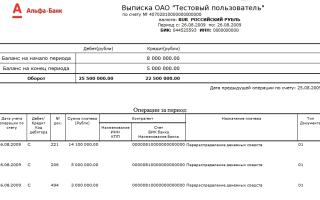 Выписка со счета Альфа-Банка для визы: правило заполнения